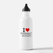 I Love Pharmacy School Water Bottle