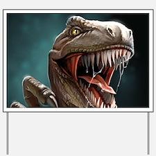 Velociraptor Yard Sign