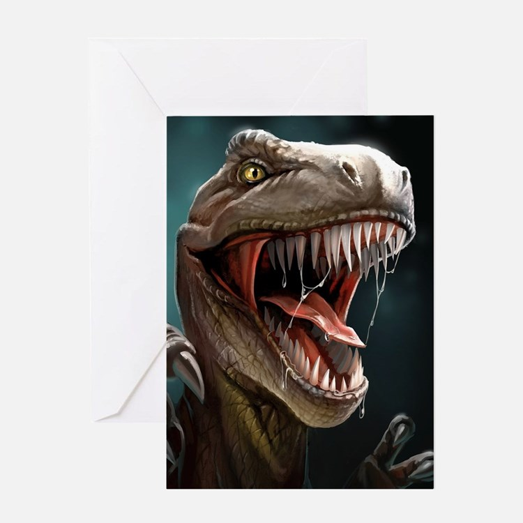 Velociraptor Greeting Cards