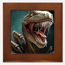 Velociraptor Framed Tile