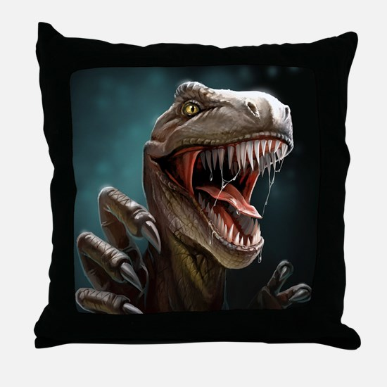 Velociraptor Throw Pillow