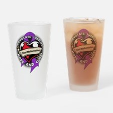 Chiari Malformation Tattoo Drinking Glass
