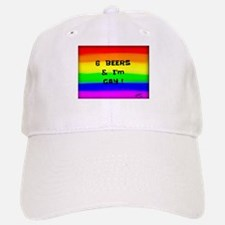 6 Beers & I'M GAY ! Rainbow art Baseball Baseball Cap