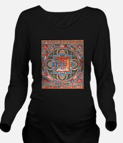 Buddhist Mandala of Long Sleeve Maternity T-Shirt