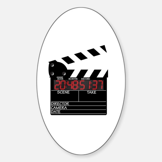 Funny Hollywood video Sticker (Oval)