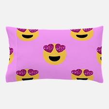 heart eyed emoji Pillow Case
