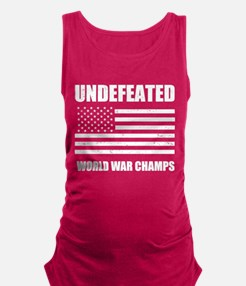 Undefeated World War Champs Maternity Tank Top