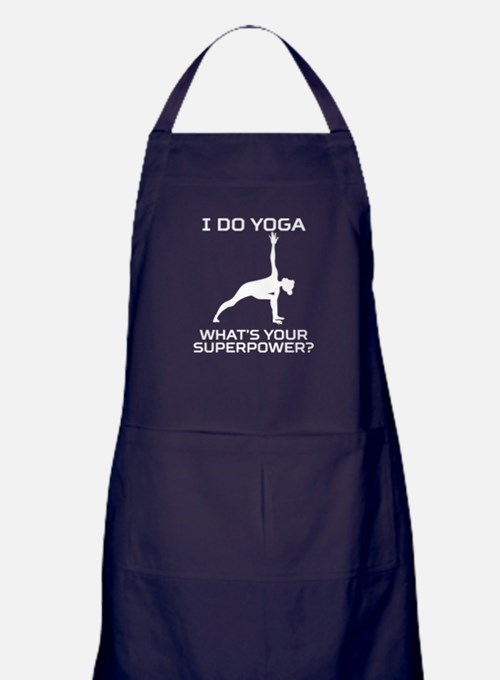 I Do Yoga What's Your Superpower Apron (dark)