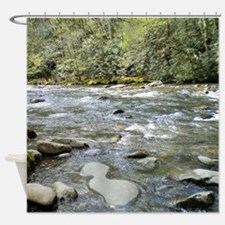 Mountain Stream - Great Smoky Mount Shower Curtain