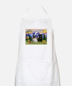 Mountain Country & Pug Pair BBQ Apron