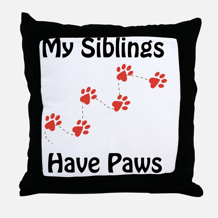 Cute Big sister dog Throw Pillow