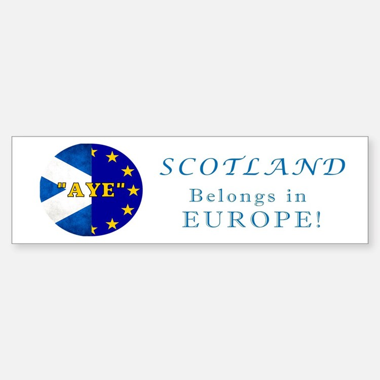 Ecosse Together With Europe Bumper Bumper Sticker