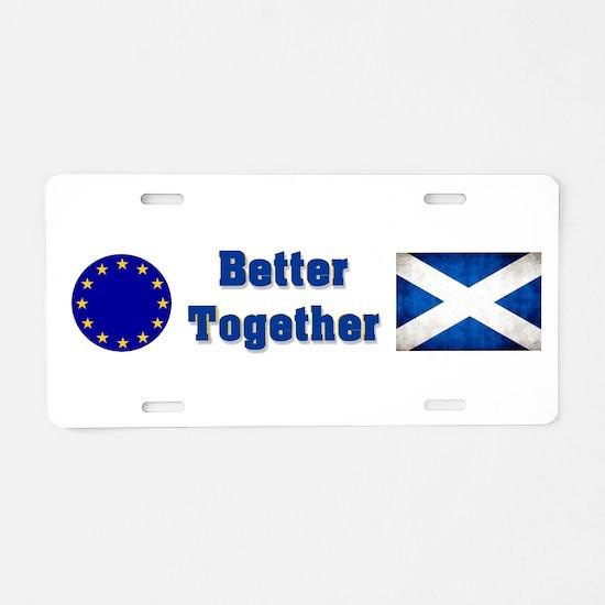 Better Together Aluminum License Plate