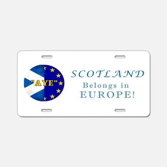 Ecosse Together With Europe Aluminum License Plate