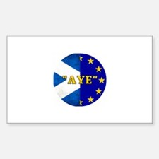 AYE to Europe! Sticker (Rectangle)