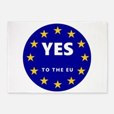 Yes to Europe! 5'x7'Area Rug