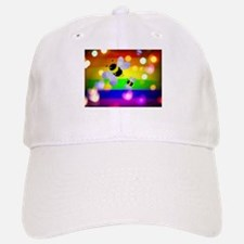 Bees Hearts gay rainbow art Baseball Baseball Cap