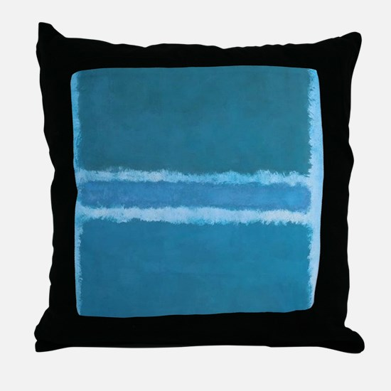 ROTHKO_SHADES OF BLUE Throw Pillow