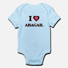 I Love Abagail Body Suit