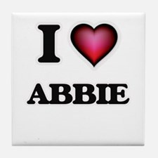 I Love Abbie Tile Coaster
