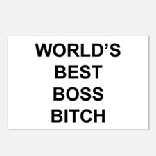 World's Best Boss Bitch Postcards (Package of 8)