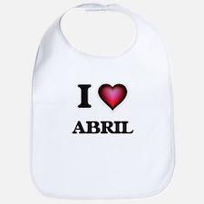 I Love Abril Bib