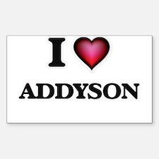 I Love Addyson Decal