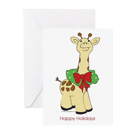 holiday giraffe Greeting Cards (Pk of 20)