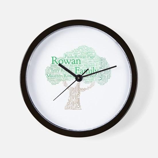 Cute Rowan Wall Clock
