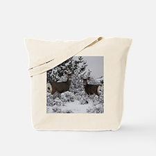 Mule Deer in the Oregon Snow Tote Bag