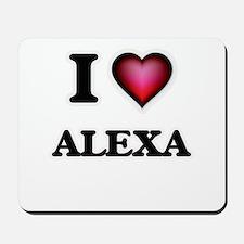 I Love Alexa Mousepad
