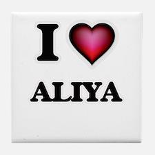 I Love Aliya Tile Coaster