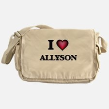 I Love Allyson Messenger Bag