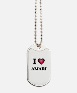 I Love Amari Dog Tags