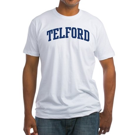 TELFORD design (blue) Fitted T-Shirt