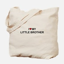I Heart My Little Brother 2 Tote Bag