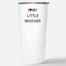 I Heart My Little Brother 2 Travel Mug