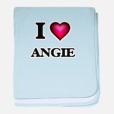 I Love Angie baby blanket