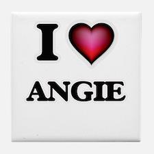 I Love Angie Tile Coaster