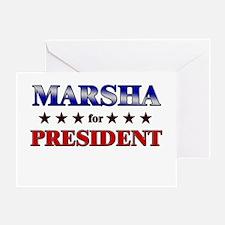 MARSHA for president Greeting Card