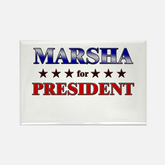 MARSHA for president Rectangle Magnet