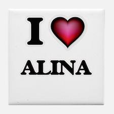 I Love Alina Tile Coaster