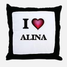 I Love Alina Throw Pillow