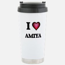 I Love Amiya Stainless Steel Travel Mug