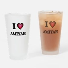 I Love Amiyah Drinking Glass