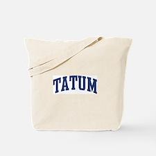 TATUM design (blue) Tote Bag