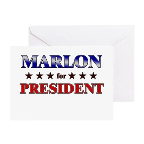 MARLON for president Greeting Cards (Pk of 10)