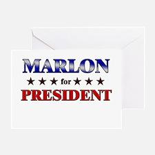 MARLON for president Greeting Card
