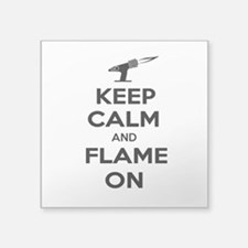 KeepCalmFlameOnBlk Sticker