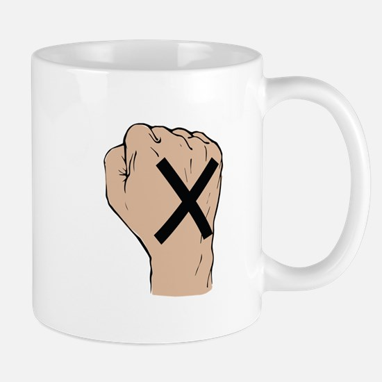 Straight Edge Fist Mugs